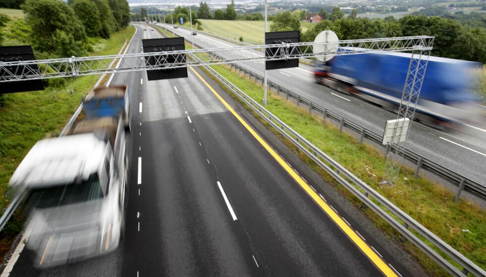 E-18 motorveien ved Fosskolltunnelen i Lierbakkene i Lier i Buskerud. Foto: Lise Åserud / NTB scanpix