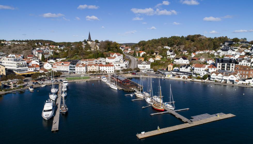 Utsikt over Grimstad sentrum. Arkivfoto: Tore Meek / NTB