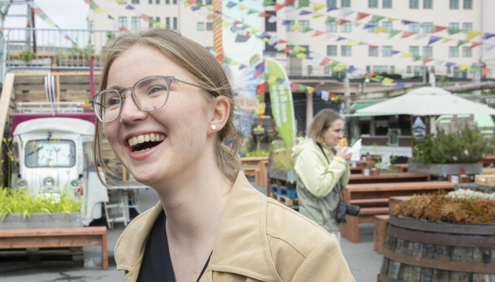 Sommerpressekonferanse med MDGs nasjonal talsperson for Grønn Ungdom Hulda Holtvedt. Foto: Berit Roald / NTB