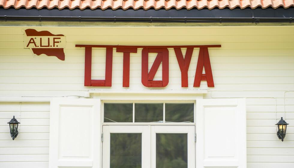 Hovedhuset er det første man møter når man ankommer Utøya i Tyrifjorden i Hole kommune. 22. juli er det ti år siden terrorangrepet der 69 mennesker ble drept på øya. Foto: Håkon Mosvold Larsen / NTB