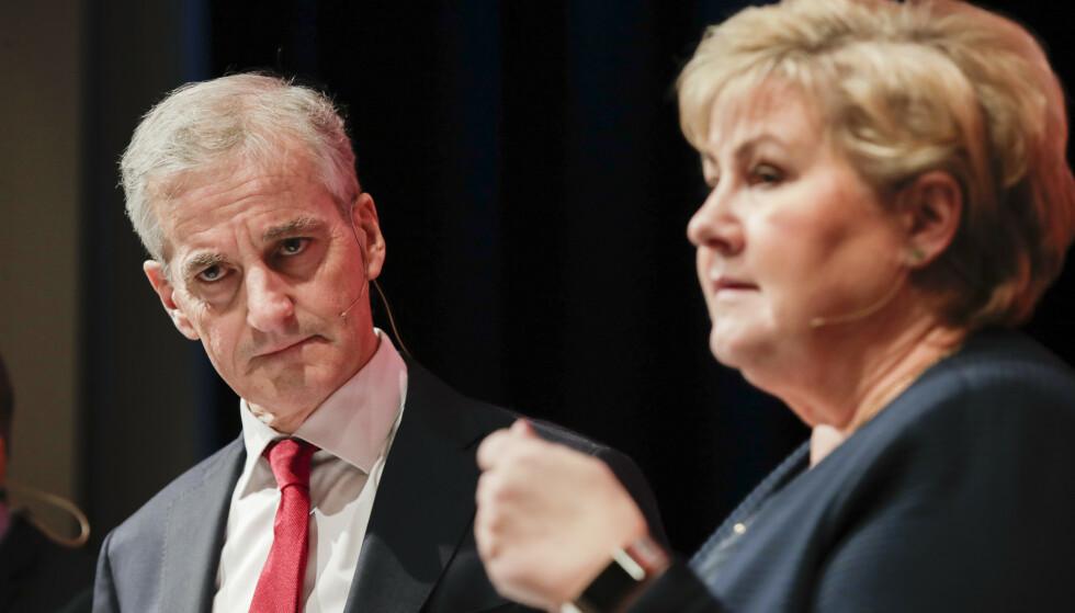 Støre eller Solberg, det er (sannsynligvis) spørsmålet. (Foto: Vidar Ruud / NTB)