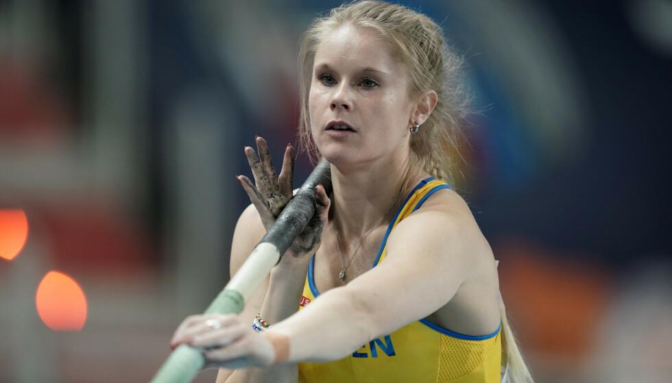 Den svenske stavhopperen Michaela Meijer. (Foto: Reuters/NTB)
