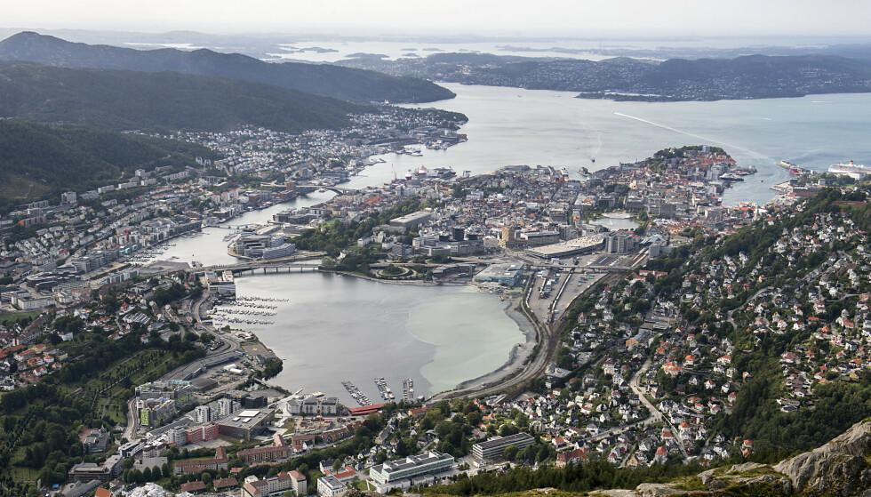Bergen sett fra Ulriken. (Foto: Marit Hommedal / NTB)