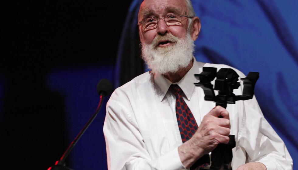 Forfatteren Kolbein Falkeid mottok hedersprisen under utdelingen av Brageprisen i Gamle Logen i Oslo i 2011. Foto: Håkon Mosvold Larsen / NTB