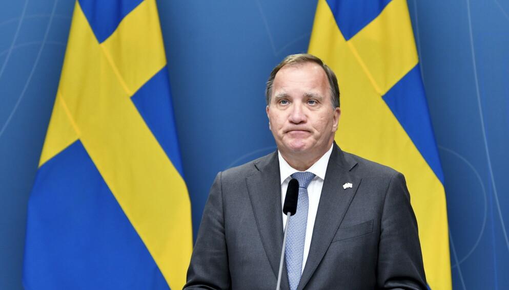 Statsminister Stefan Löfven (S) må bestemme seg om han skal gå av eller skrive ut nyvalg. Foto: Anders Wiklund / TT NYHETSBYRÅN / NTB