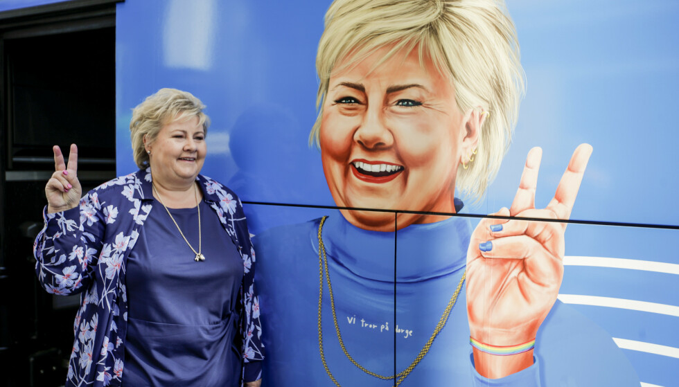 Erna Solberg (H) på valgkampturné: – Nå gir vi jernet! Foto: Hanna Johre / NTB