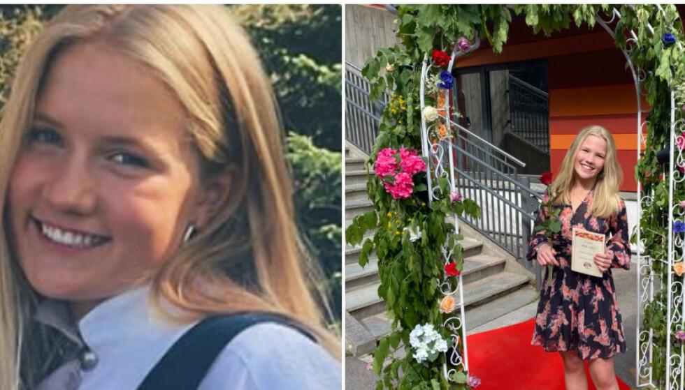 Benedicte (18) og Victoria Myrset (12) omkom etter et lynnedslag i Hareid søndag. Foto: Privat