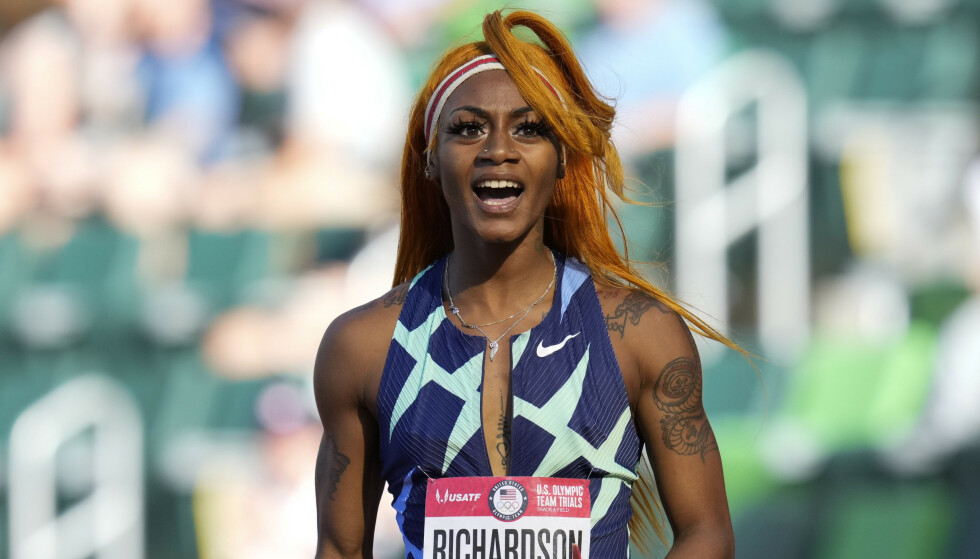 Sha'Carri Richardson deltar ikke i OL etter utestengelse og vraking. Foto: Ashley Landis / AP / NTB.