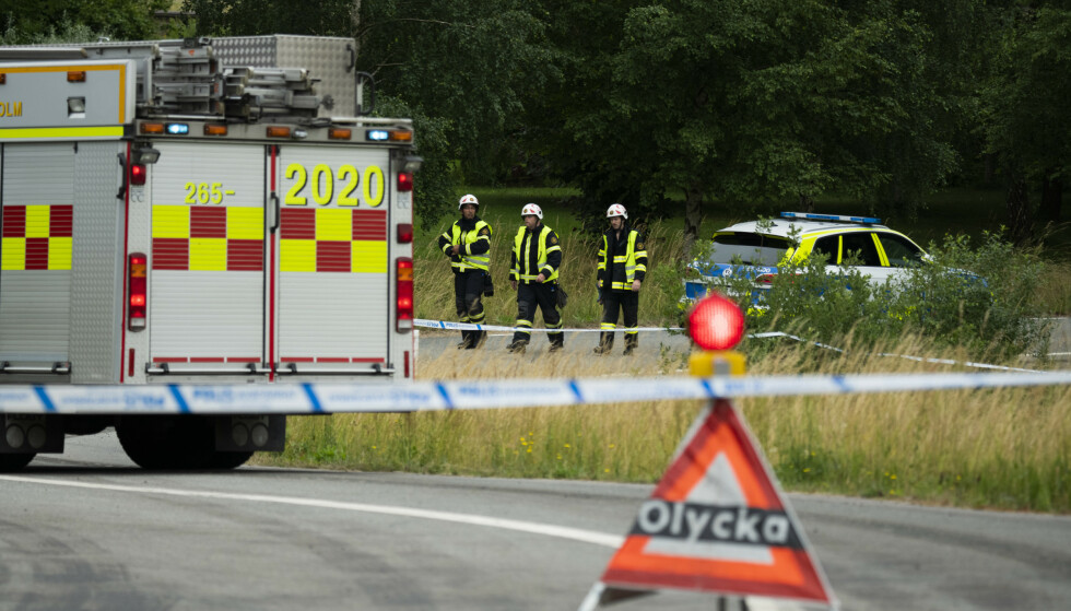 Flere personer har blitt påkjørt av et tog i den svenske kommunen Hässleholm nordøst for Malmö. Foto: Rickard Nilsson / TT / NTB