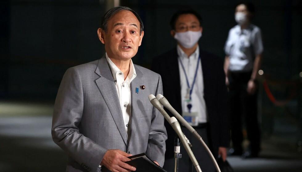 Japans statsminister bekrefter: Unntakstilstand i Tokyo gjennom hele OL. Foto: STR / JIJI PRESS / AFP) / Japan OUT NTB
