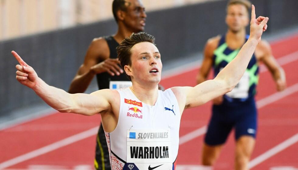 Karsten Warholm er gullfavoritt på 400 meter hekk i Sommer-OL. Finalen på 400 meter hekk går av stabelen tirsdag 3. august ca kl 05.20. FOTO: CLEMENT MAHOUDEAU / AFP) via NTB