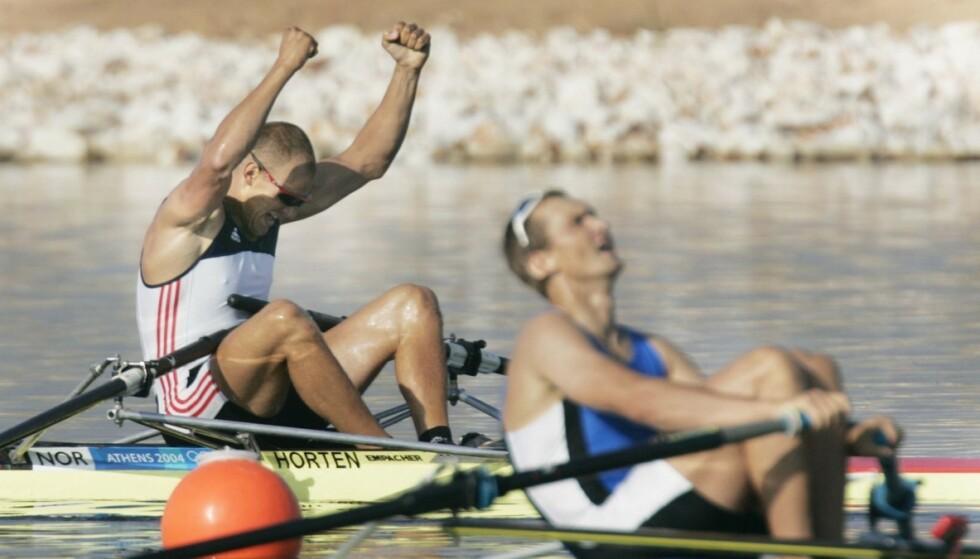 Olaf Tufte spurtet inn til gull under OL i Athen i 2004. Dette blir hans siste OL. FOTO: JON EEG / NTB