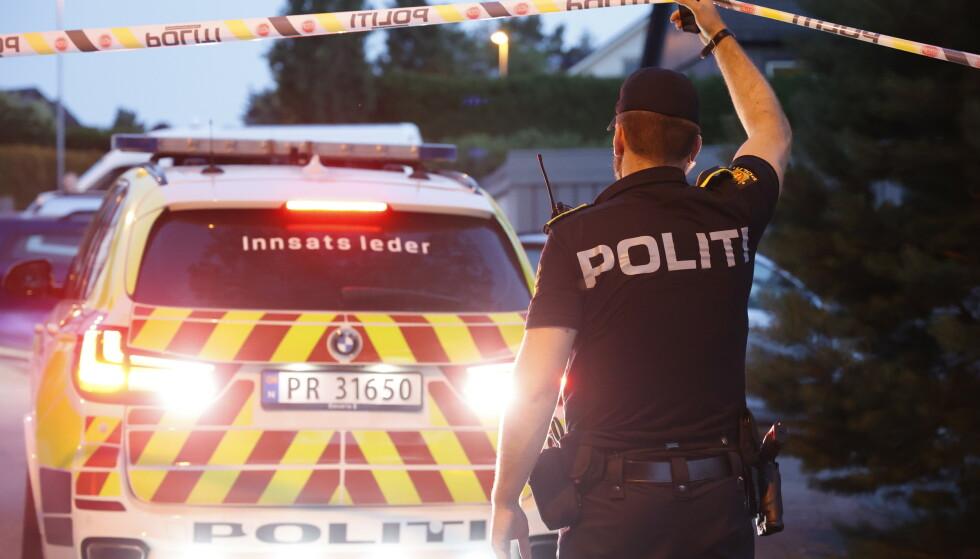 En mann i 20-årene og hans far ble knivstukket i Voiebyen i Kristiansand onsdag kveld. Foto: Tor Erik Schrøder / NTB