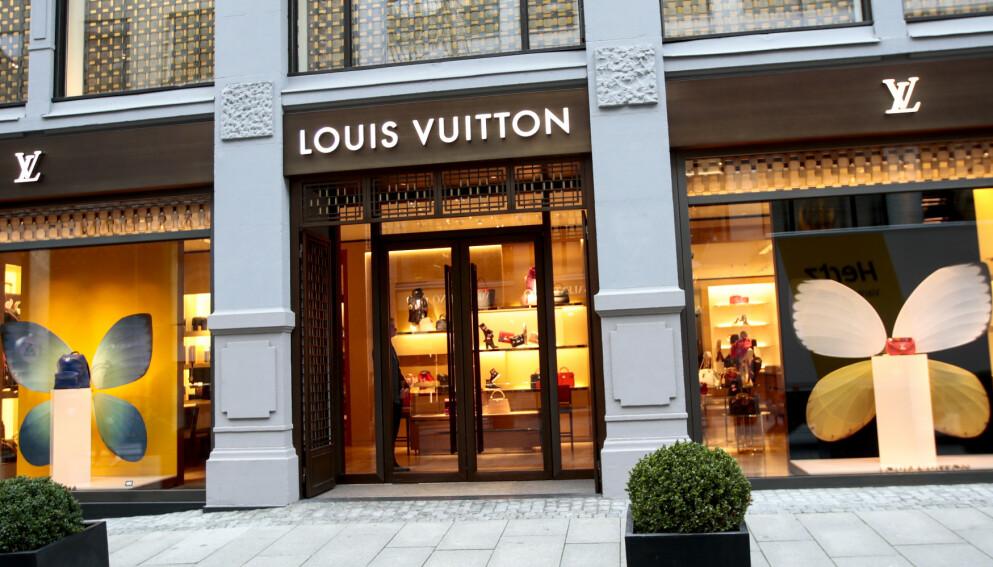 Lois Vuitton i Nedre Slottsgate i Oslo sentrum. Foto: Lise Åserud / NTB