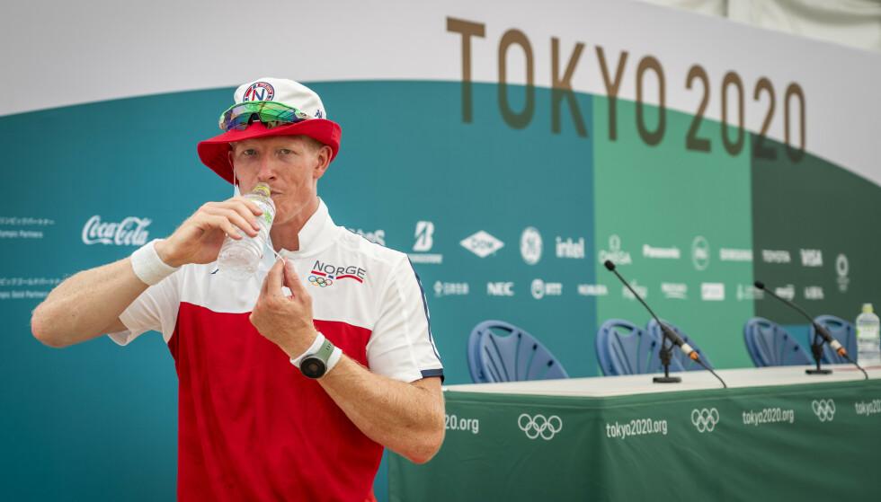 Tokyo, Japan 20210204. Roer Kjetil Borch under et pressemøte etter trening på roarenaen Sea Forest Park i Tokyo onsdag.Foto: Heiko Junge / NTB.