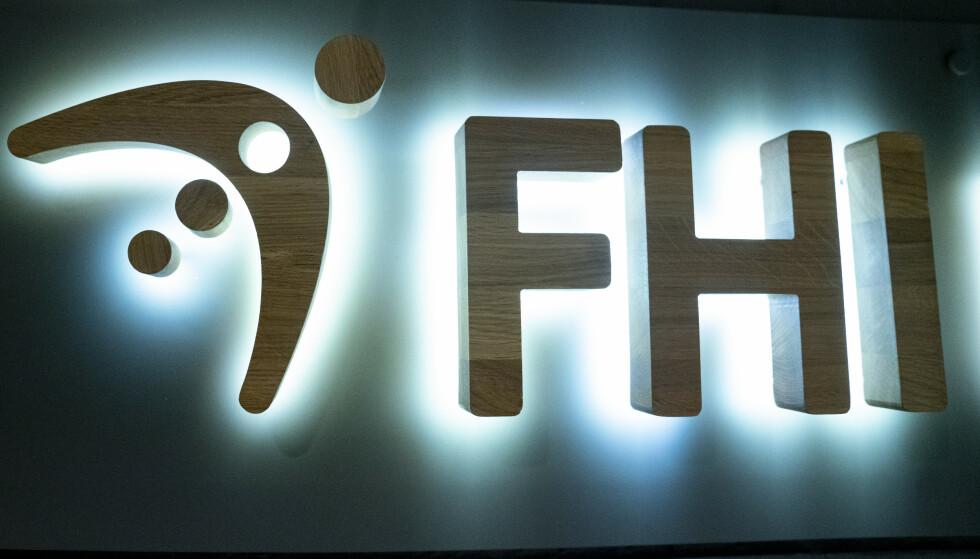 Logoen til Folkehelseinstituttet.Foto: Fredrik Hagen / NTB