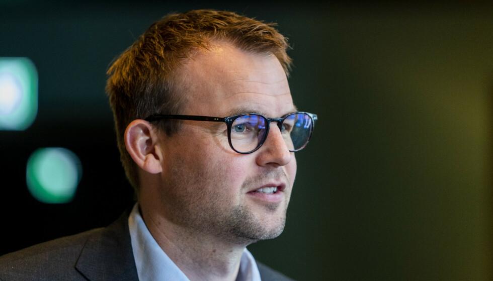 Oslo 20210430. Partileder Kjell Ingolf Ropstad under KrFs landsmøte 2021. Foto: Terje Pedersen / NTB