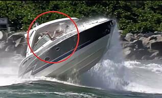 Image: Båtulykken fanges på film