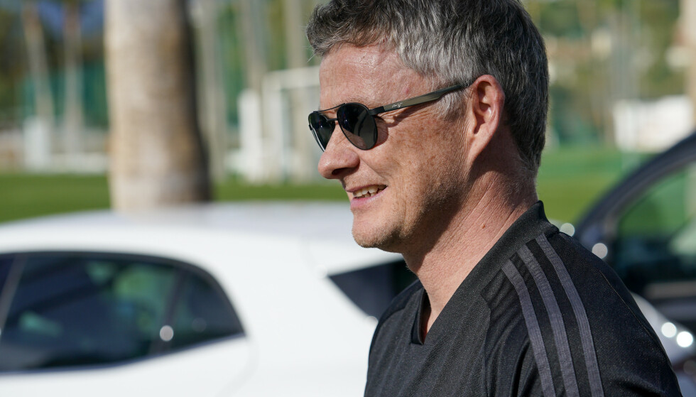 Marbella, Spania 20200212. Manchester United manager Ole Gunnar Solskjær ser treningskampen mellom Molde vs. Kongsvinger i Marbella.Foto: Jan Kåre Ness / NTB