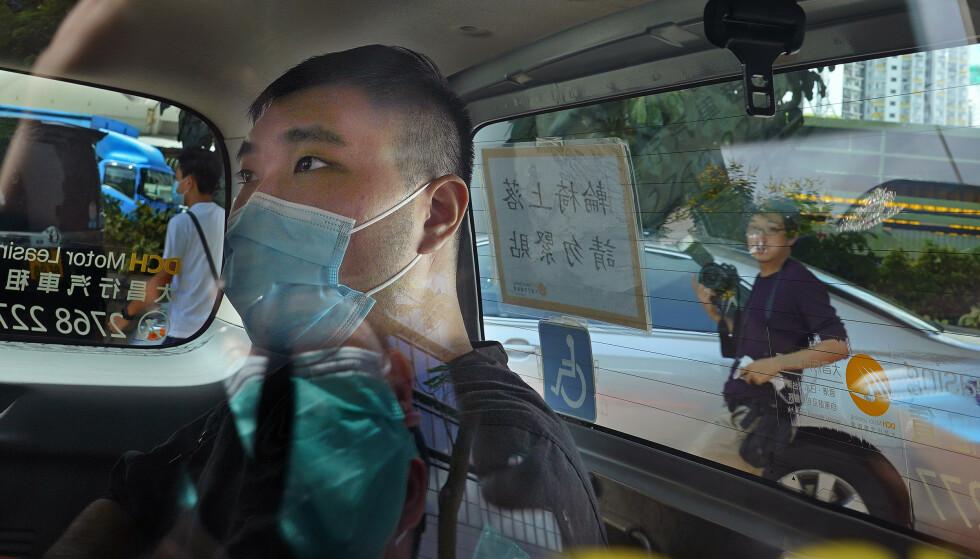 24 år gamle Tong Ying-kit avbildet tidligere i juli. Foto: Vincent Yu / AP / NTB.