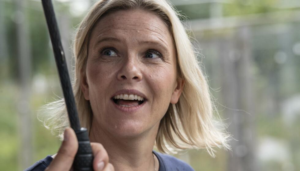 Sylvi Listhaug, Frps leder på besøk i Bergen. Her sier hun til Bergens Tidende at partiet, tradisjonen tro, vil løfte innvandring og integrering i valgkampen. Foto: Marit Hommedal/NTB