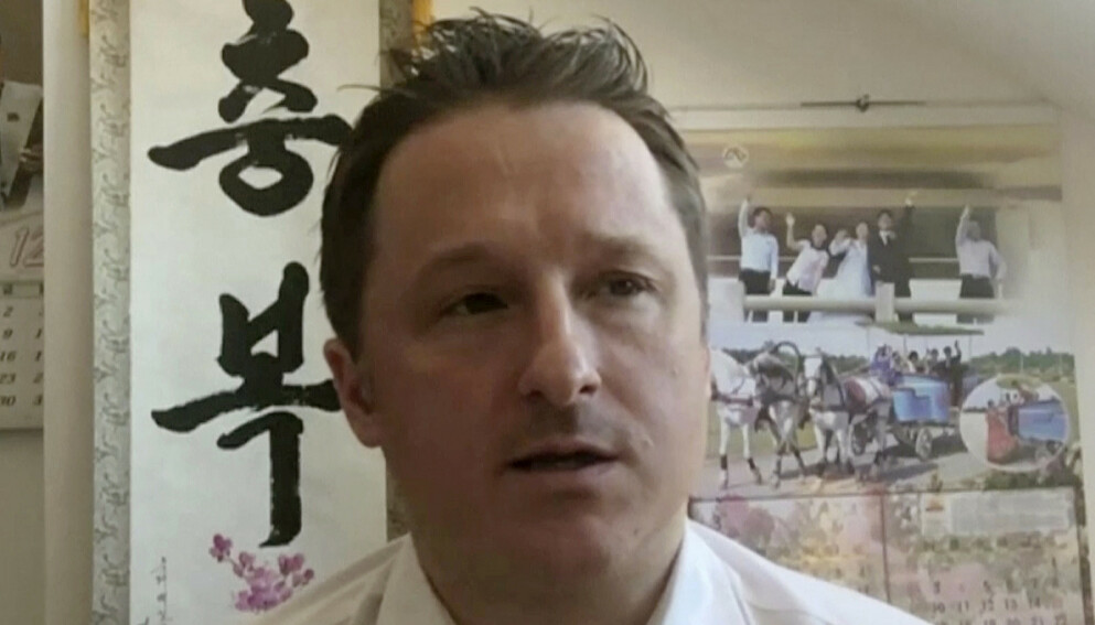 Canadieren Michael Spavor er dømt til elleve års fengsel i Kina. Han er anklaget for spionasje. Canada mener rettsprosessen mot ham er politisk motivert og knyttet til saken mot Huawei-toppen Meng Wanzhou, som ble pågrepet i Canada i 2018. Foto: AP / NTB.