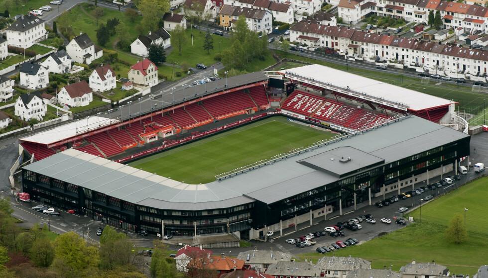 Brann vurderer ny informasjon om den mye omtalte stadionfesten på klubbens arena tidligere i uken. Foto: Marit Hommedal / NTB