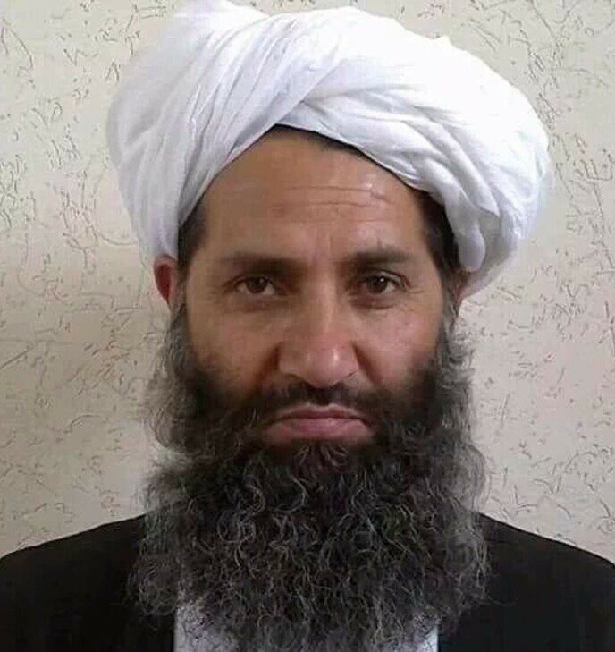 LEDER: Haibatullah Akhundzada, mannen som er en sentral leder i Taliban. Foto: Afghan Taliban / AFP via NTB