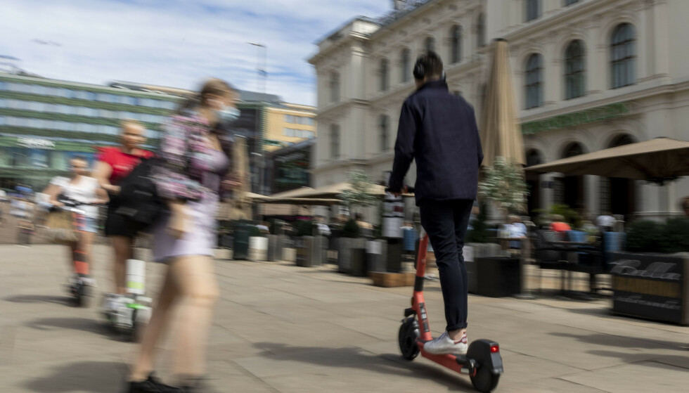 60 prosent av de som blir skadd på elsparkesykkel, er menn. Foto: Beate Oma Dahle / NTB