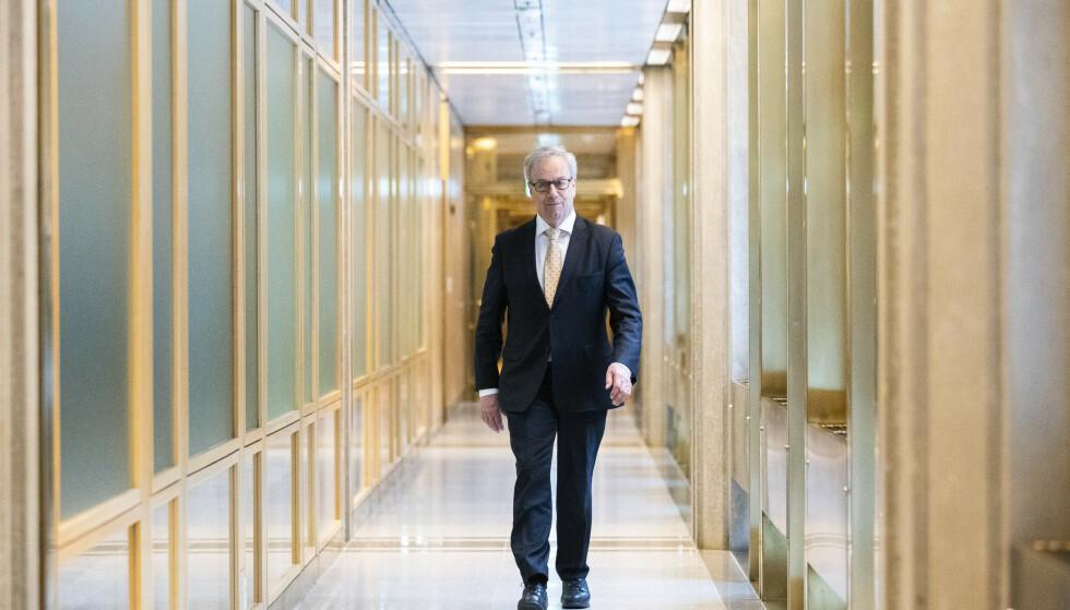 Sentralbanksjef Øystein Olsen og rentekomiteen i Norges Bank holder som ventet styringsrenta uendret på null prosent. Foto: Berit Roald / NTB