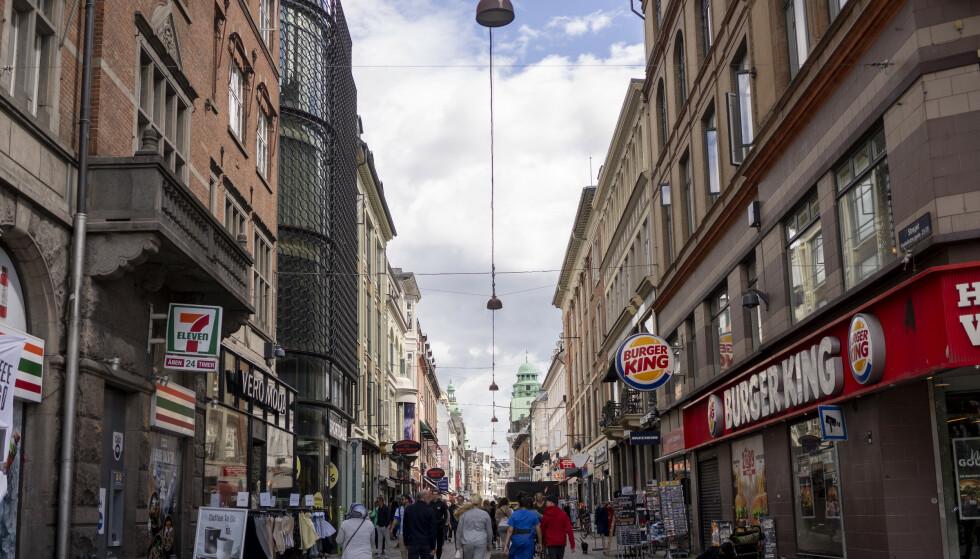 Strøget i Kbenhavn sentrum. Foto: Fredrik Hagen / NTB