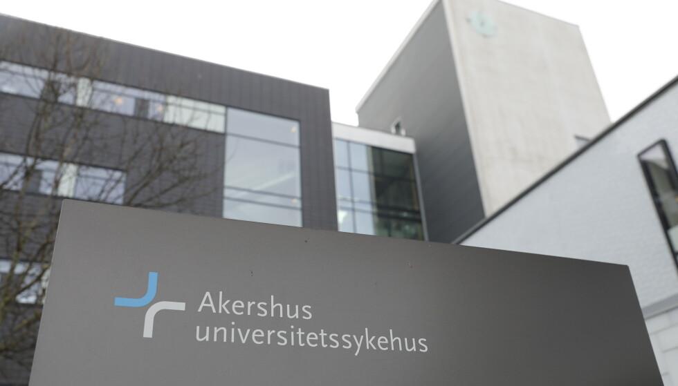Tirsdag var det innlagt 89 coronapasienter på norske sykehus. Her et bilde av Akershus universitetssykehus (Ahus). Illustrasjonsfoto: Ole Berg-Rusten / NTB