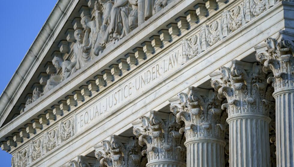 Illustrasjonsfoto av bygningen til USAs høyesterett: J. Scott Applewhite / AP / NTB