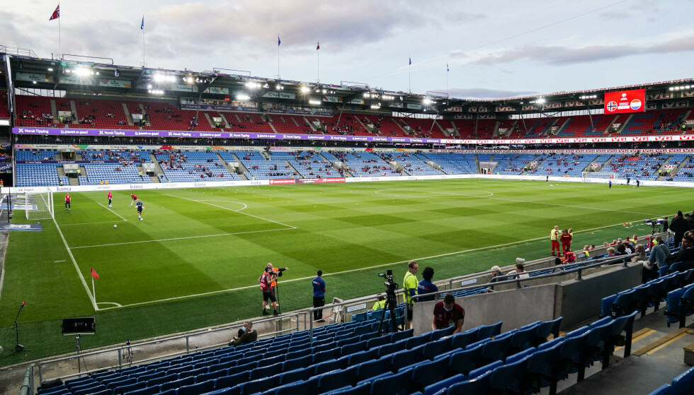 7000 publikummere fikk være til stede på landskampen mot Nederland onsdag. Nå åpner Helsedirektoratet for at det kan slippes inn 10.000 på neste hjemmekamp. Foto: Stian Lysberg Solum / NTB