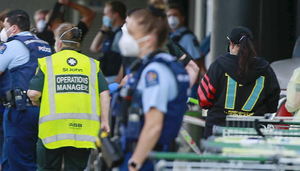 Seks personer er skadd etter terrorangrep i New Zealand. (Foto: New Zealand Herald via AP/NTB)