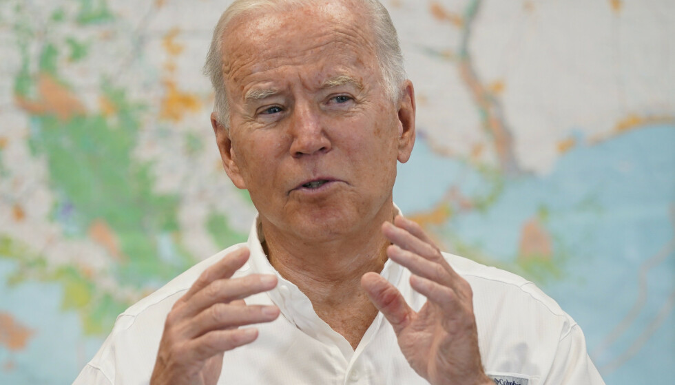 Joe Biden med klimaadvarsel. (Foto: AP/NTB)