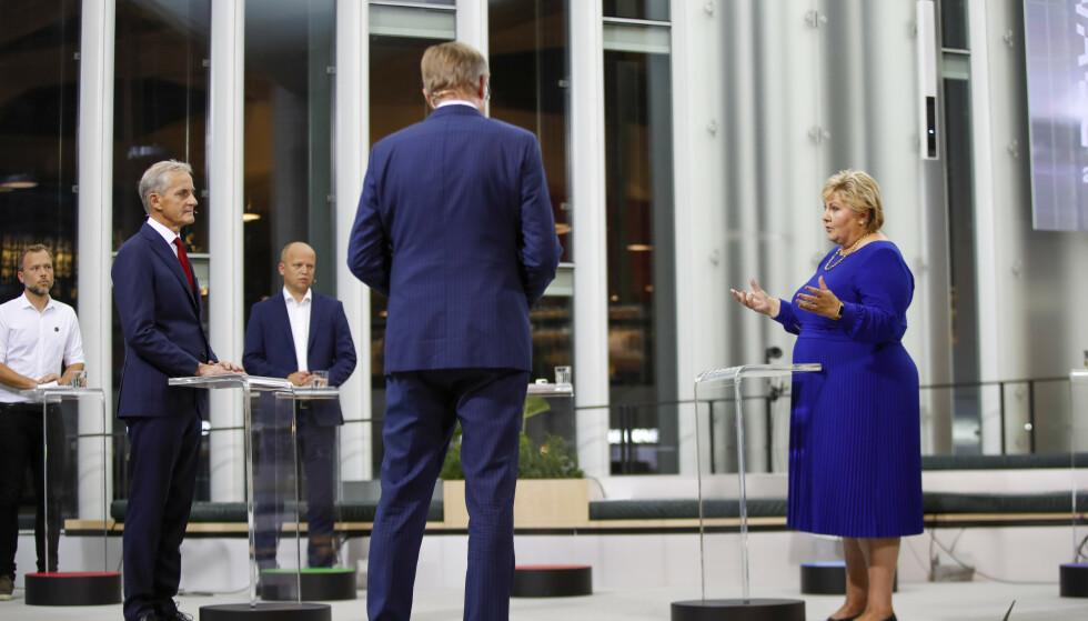 Partilederdebatten onsdag ble preget av en rolig diskusjon. Foto: Javad Parsa / NTB