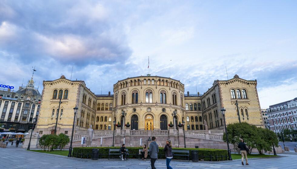 Stortingsbygningen i Oslo sentrum. Foto: Håkon Mosvold Larsen / NTB