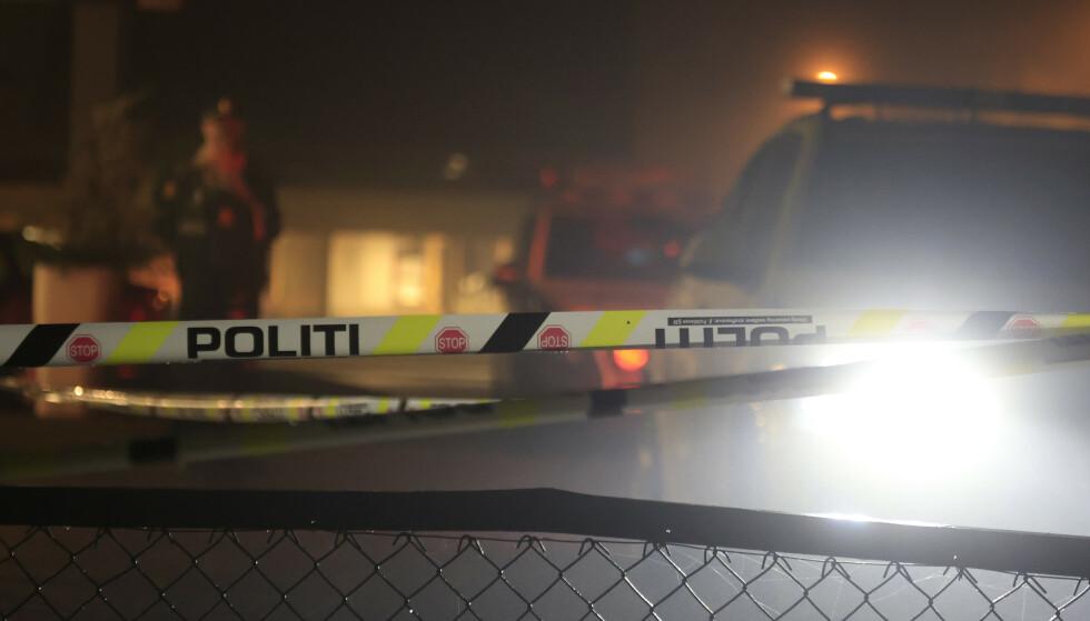 Evje 20200108. Politiet er på Evje sentrum der en person er pågrepet for drap fredag kveld.Foto: Tor Erik Schrøder / NTB