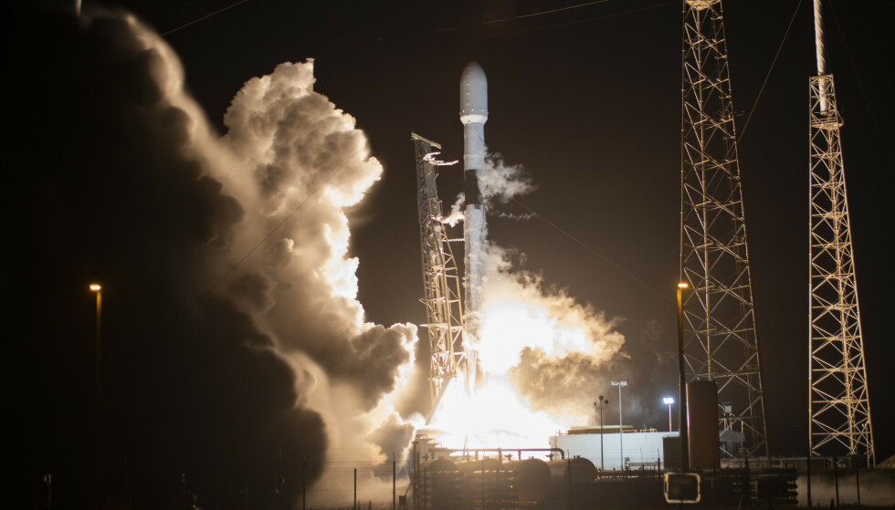 SpaceX Falcon 9. Foto: NTB