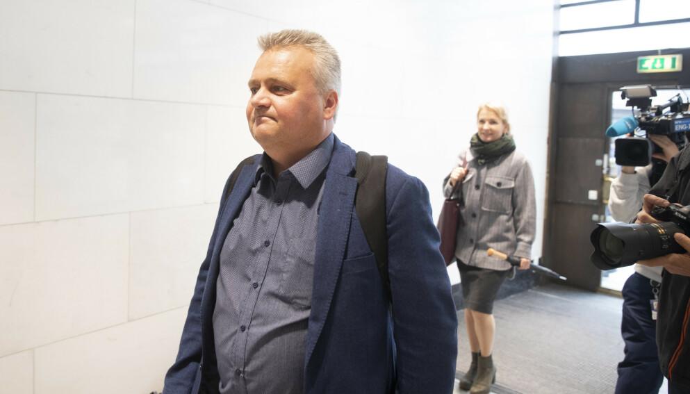 Fellesforbundets leder Jørn Eggum ankommer riksmeklerens lokaler.Foto: Berit Roald/NTB