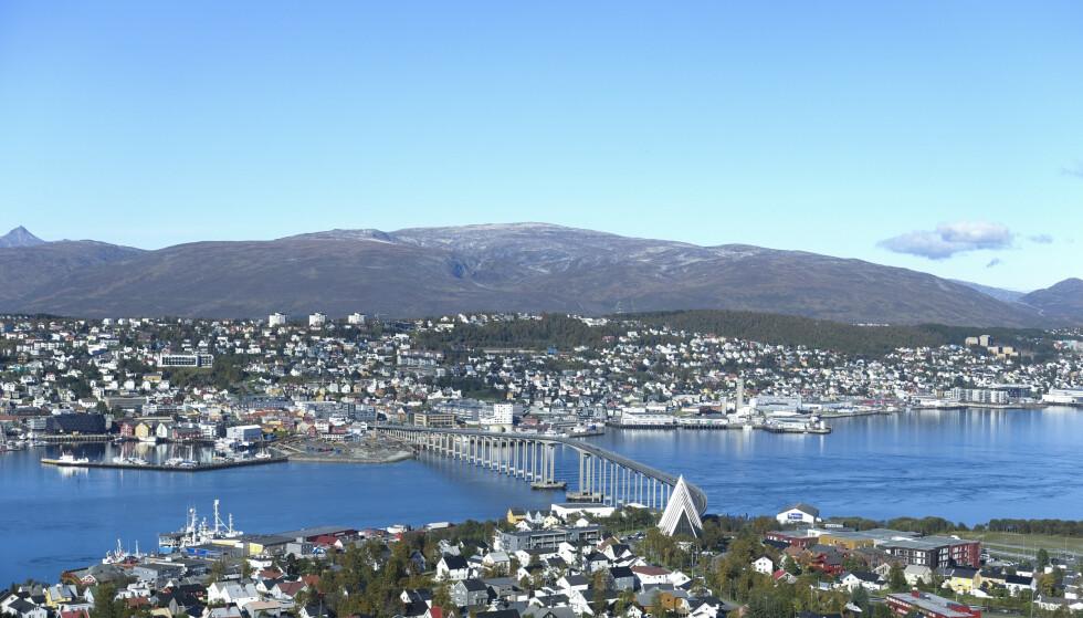 Utsikt over Tromsø by fra Fjellheisen. Foto: Marianne Løvland / NTB