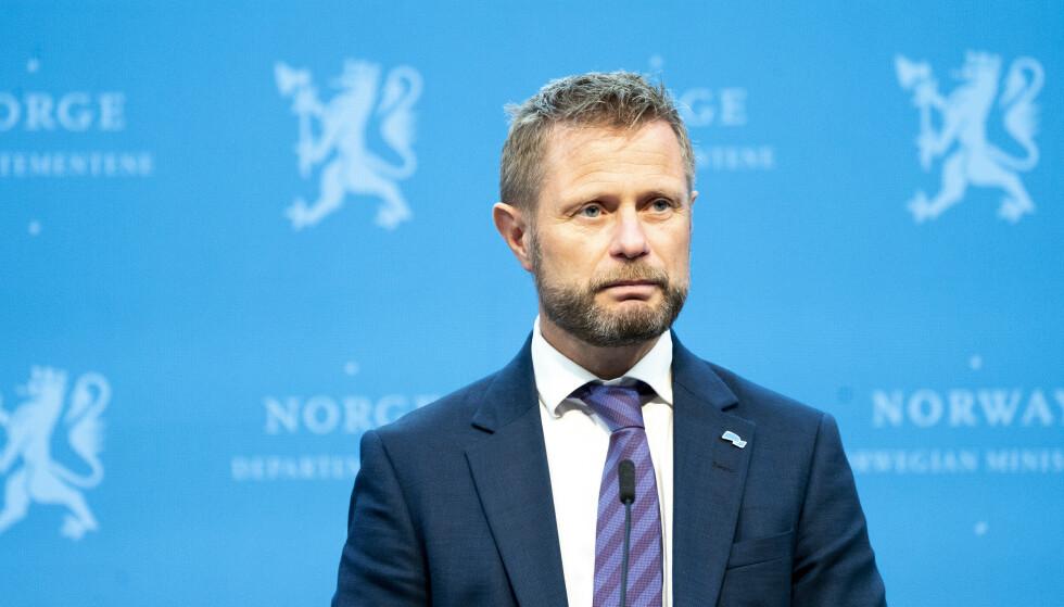 Helseminister Bent Høie under pressekonferanse om coronasituasjonen i Norge.Foto: Torstein Bøe / NTB