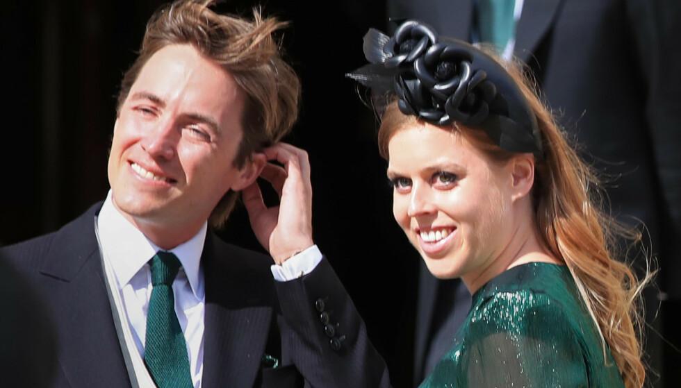 Prinsesse Beatrice (33) og ektemannen Edoardo Mapelli Mozzi (37) har blitt foreldre for første gang.. Foto: NTB