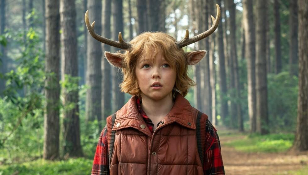 Gus er dels menneske, dels hjort. Foto: Netflix