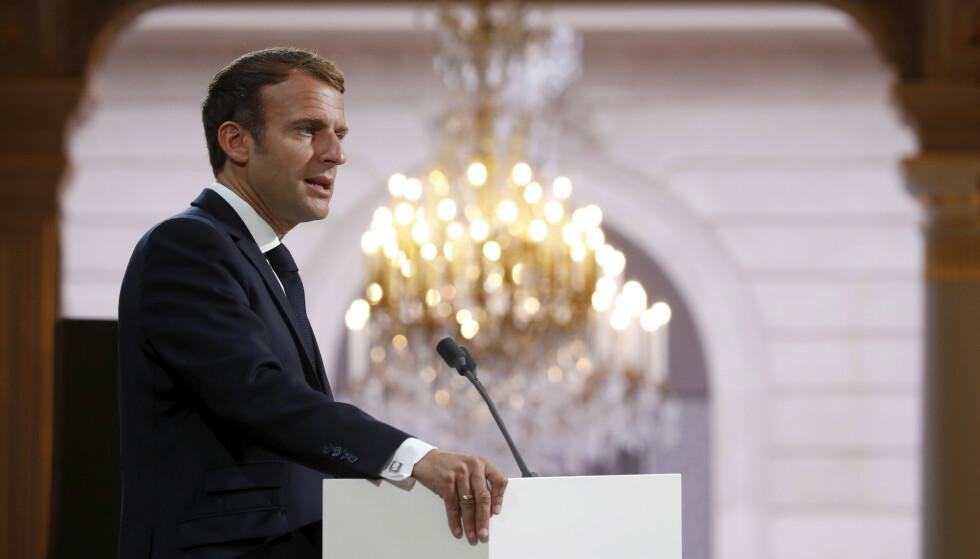 Frankrikes president Emmanuel Macron. Foto: Gonzalo Fuentes / AP / NTB