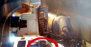 Image: Forferdelig ulykke fanget på film