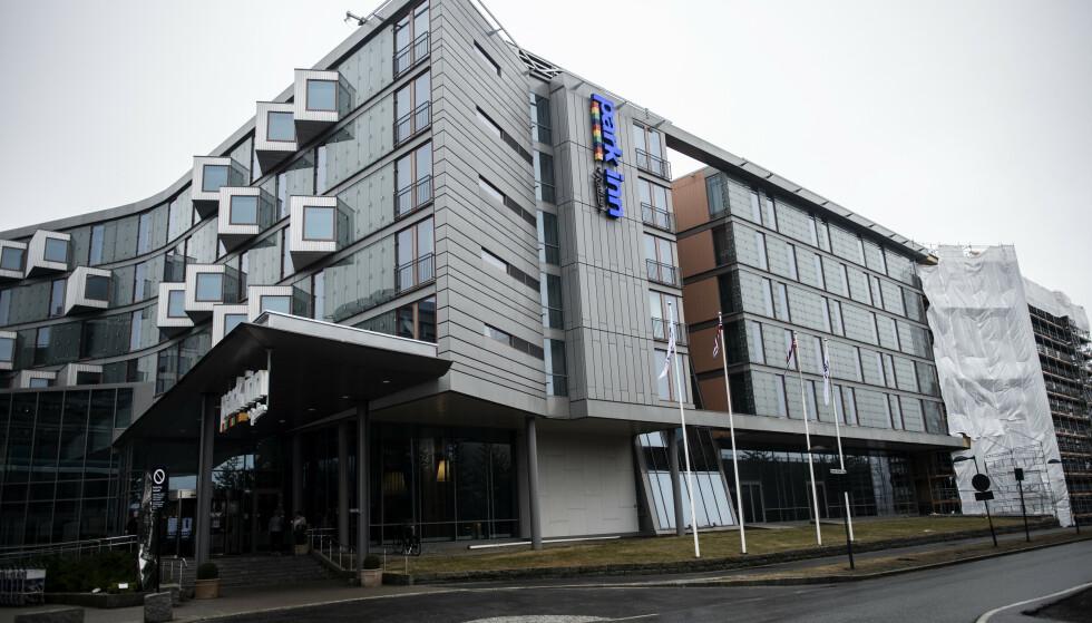 Oslo 20210329. Park Inn by Radisson Oslo Airport ved Oslo Lufthavn. Foto: Annika Byrde / NTB