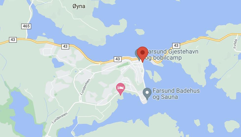 Skjermdump Google Maps.