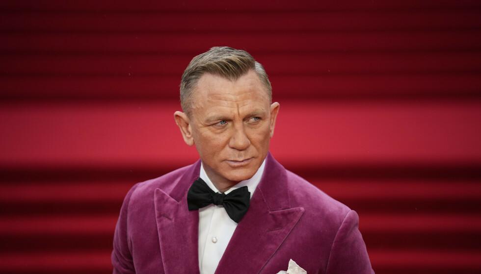 Daniel Craig spiller James Bond for femte og siste gang i «No Time to Die», som gjorde den beste premieredagen for Bond-filmer i Norge sist fredag. Foto: Matt Dunham / AP / NTB